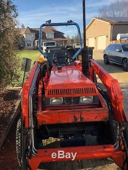 Kioti Lk 3054 4x4 Tractor With Woods Loader Bucket And Only 204 Hours 3 Point