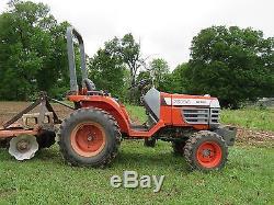 Kubota 4 x 4 tractor b 7300 1200 hours