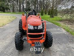 Kubota 4x4 Tractor 78 hours L2501DT Land Pride Mower
