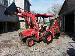 Kubota 4x4 Tractor Loader Backhoe, Commercial Duty Built