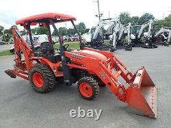 Kubota B26 Tractor Loader Backhoe, Orops, Hydro, 4x4, 24.3 Hp, Rear Thumb