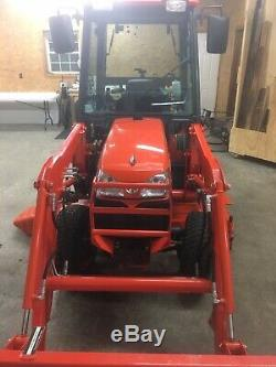 Kubota B3030HSDC Compact Diesel Cab Tractor With Loader & Belly Mower 4x4 Heat A/C