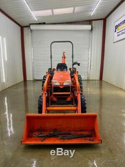 Kubota B3300su 4x4 Compact Utility Tractor With La504 Loader With Pin On Bukcet