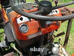 Kubota B7100 4WD Tractor Hydraulic Blade Trencher Runs & Works Fine