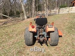 Kubota B7100 HST 16 HP Diesel Tractor With Belly Mower 2 Wheel Drive