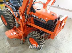 Kubota B7500 Tractor, 4WD, Hydro, LA302 Front Loader, 54in Belly Mower, 377 Hrs