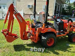 Kubota BX23S Tractor Loader Backhoe 94 hours, with accessories and attachments