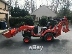 Kubota BX24 Diesel Tractor 4WD Power Steering Loader & Backhoe Only 280 Hours