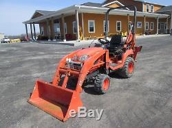 Kubota BX25D Farm Tractor Loader Backhoe with Trailer