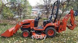 Kubota BX25D tractor with Loader Backhoe 60 inch mower low 790 Hrs. Very nice co