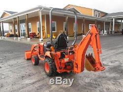 Kubota BX25DLB Used Farm Tractor Loader Backhoe 4X4 PTO 3 PT Hitch # 3208