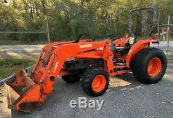 Kubota Diesel Tractor Loader! 41 Hp! Hydrostatic! 4x4! Great Deal! Look