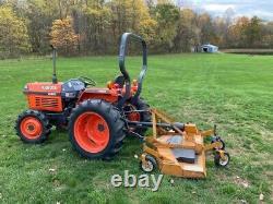 Kubota L2500 4X4 Tractor 3 Vortex Diesel 758 Hours with Woods 6' Mowing Deck
