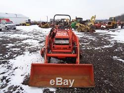 Kubota L3010 Tractor with LA482 Loader, 4WD, Hydro, 72 Belly Mower, 635 Hours