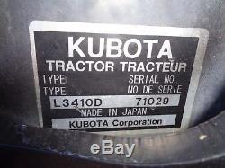 Kubota L3410 Tractor, Loader, 4WD, Shuttle Shift, 573 hours