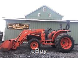 Kubota L3540 Hst 4x4 Compact Tractor /loader 37hp Quick Attach Low Cost Shipping