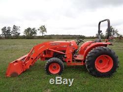 Kubota L4600 Tractor with Kub LA764FL w front aux Hydraulics, 4WD, 737 Hours