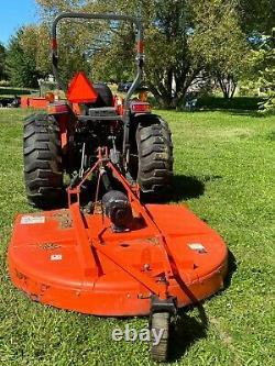Kubota LA1065 MX5800 Tractor with 352 Hours + Forks Bucket Brush Hog Rototiller +