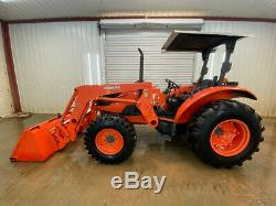 Kubota M6040dt 4wd Tractor Loader With Open Rops With La1153 Loader