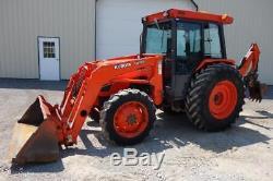 Kubota M6800 Tractor WithKubota LA1001 Loader & Backhoe, 1101 Hrs, Cab&Heat, 4X4