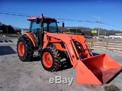 Kubota M9540 4x4 Cab Tractor with Loader (low hours) CAN SHIP @ $1.85 loaded mile