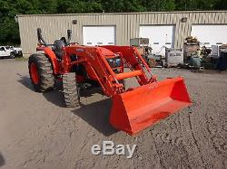 Kubota MX4800 Utility Tractor 5.8 HOURS! Loader MFWD 4WD P/S 3 PT Q/A PTO