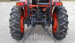 Kubota Tractor 4 X 4 L3700 SU with Front Loader & New Bush Hog