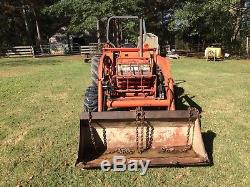 Kubota tractor L3450 4x4 W\bucket, Bush Hog, Disc