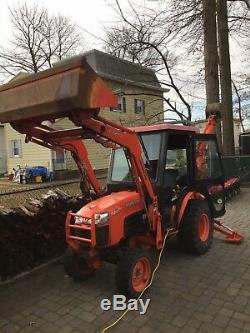 Kubota tractor loader backhoe Mower Heated Cab B2630