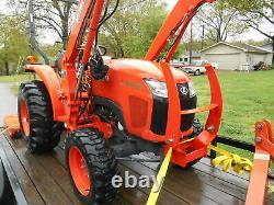 L2501D Kubota 4wd Tractor/Loader/Trailer/ BushHog and Boxblade/Tiedowns