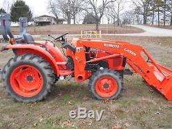 L3200D Kubota 4wd Tractor/Loader/New Trailer/New Bush hog/ New Boxblade/Tiedowns