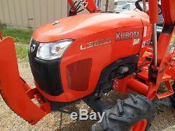 L3200d Kubota 4wd Tractor Pkg Trailer Bush Hog Boxblade
