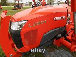 L3901D Kubota 4wd Tractor/Loader/ NEW Trailer/ BushHog and Boxblade/Tiedowns
