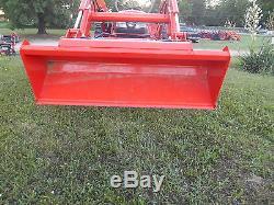 L4600D Kubota 4wd Tractor/Kubota Loader/Landpride Bush Hog