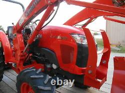 L4600D Kubota 4wd Tractor/Loader/ NEW Trailer/Used BushHog and NEW Boxblade