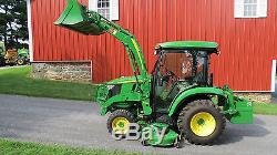 LOADED 2016 JOHN DEERE 3039R 4X4 COMPACT TRACTOR With LOADER MOWER & CAB 82 HOURS