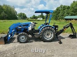 Lenar Jl254 Compact Loader Tractor Backhoe 4x4 25hp Diesel Super Low 103hrs