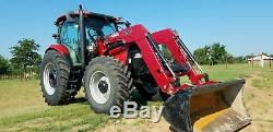 Low hours 125 HP FWD Case IH Maxxum 125 Loader Tractor