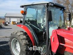 MASSEY FERGUSON 1547 CAB TRACTOR With 1530 LOADER. 4X4. PARTIAL POWER SHIFT. NICE