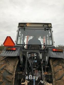 Massey Ferguson 383 Diesel Tractor With Cab And Front End Loader. Very Good