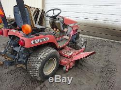 Massey Ferguson GC2300 4x4 Compact Utility Tractor MOWER DECK MFWD LOW HRS