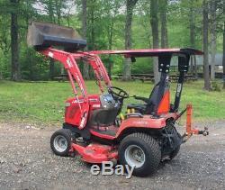 Massey Ferguson GC2400 snowblower mower, 60 loader cab, 4x4 compact Tractor