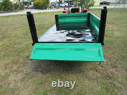 Multi Use Flat Bed Hydraulic Dump Ag Farm Trailer Pull with Tractor