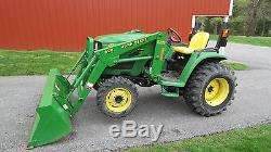 NICE 2004 JOHN DEERE 4310 4X4 COMPACT UTILITY TRACTOR With LOADER HYDRO 553 HOURS