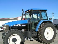 New Holland / Ford Tm130 Farm Tractor 4x4 Cab 2100 Hours Per Def No Electricly
