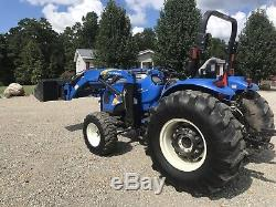 New Holland T2420 Tractor. 60 Horse. Power Shuttle. 2 Set Rear Remote. Loader