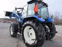 New Holland TS110 Diesel Farm Agriculture 4X4 Tractor With Cab & Loader