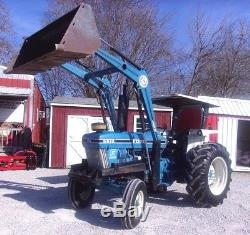 Nice Ford 5610 Tractor with Loader CAN SHIP @ $1.85 loaded mile