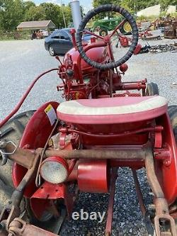 SUPER A FARMALL TRACTOR With ONE HITCH PLOW