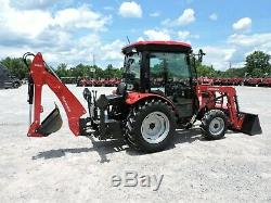 Used 2017 Mahindra 2538 Tractor Loader & Backhoe 4x4 Enclosed Cab